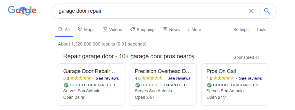 Garage Door Company Reapirs